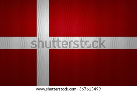 Closeup of Denmark flag - stock photo