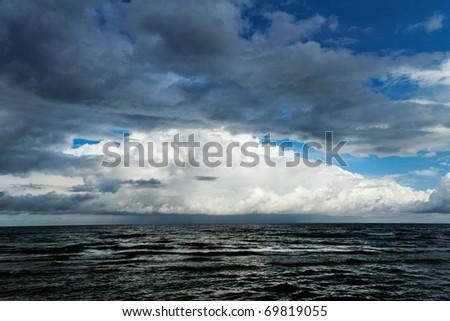 Cloud over sea. - stock photo