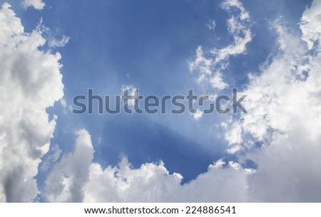cloudy with sky - stock photo