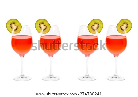 Cocktails isolated on white background