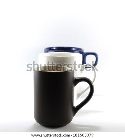 coffe mug isolated on a white background - stock photo