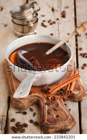 Coffee mulled wine - stock photo