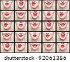 collage, lips - stock photo