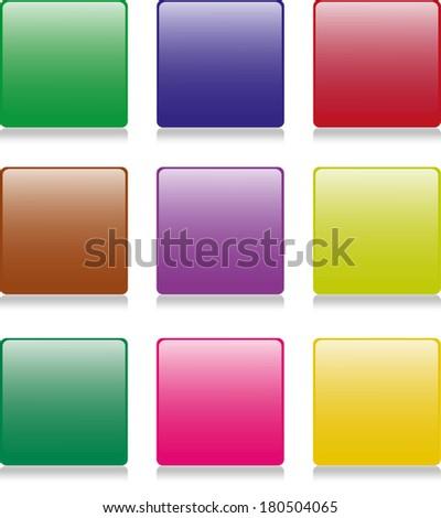 9 color button - stock photo