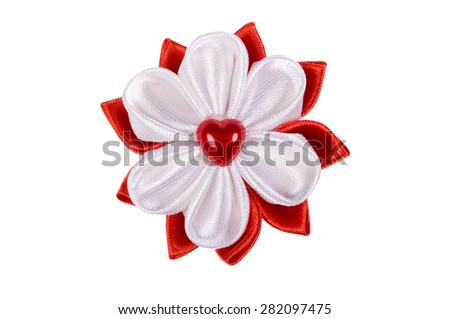 Colored hair clip on a white background