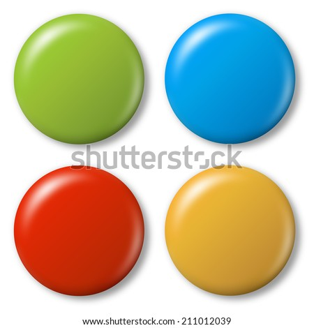 4 colored magnets - stock photo