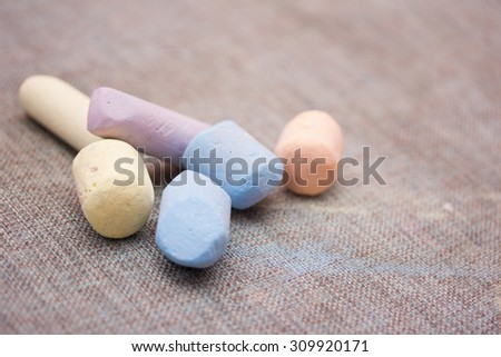 colored pastel crayons