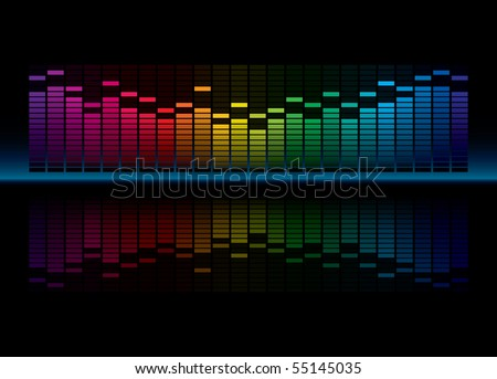 Colorful Graphic Equalizer Display - stock photo