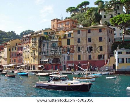 Colorful Harbor in Portofino, Italy - stock photo