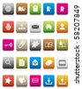 colorful icons -- Internet and Blogs - stock vector