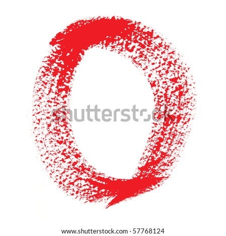 0 - Colorful numbers isolated over the white background