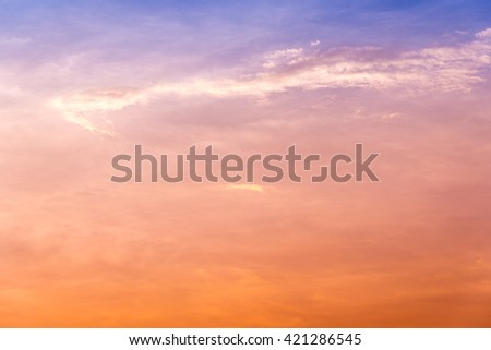 Colorful sky at twilight time. - stock photo
