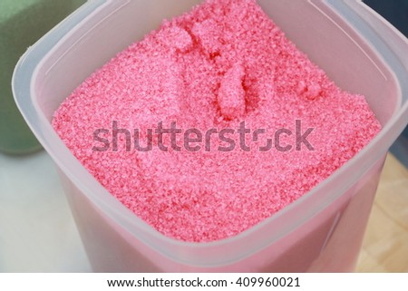 colorful sugar for cotton candy - stock photo