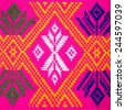 .Colorful thai handcraft peruvian cutton style rug surface close up More of this motif & more textiles peruvian stripe beautiful background tapestry persian nomad detail pattern arabic fashionable. - stock photo
