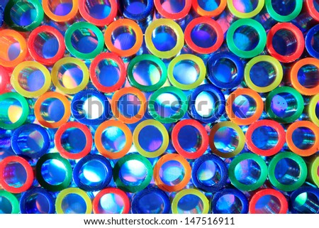 Colorful tubes as a background
