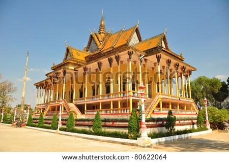 1000 columns temple, Cambodia - stock photo