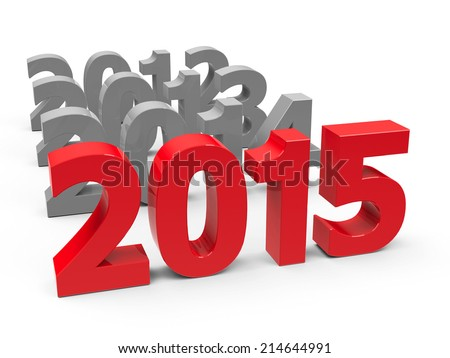 2015 come represents the new year 2015, three-dimensional rendering - stock photo