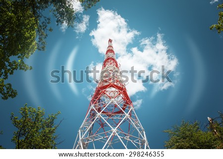 Communication tower radio signal
