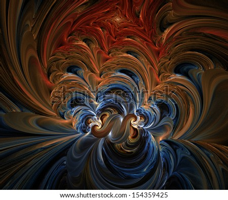 Computer generated fractal artwork for creative design needs - stock photo