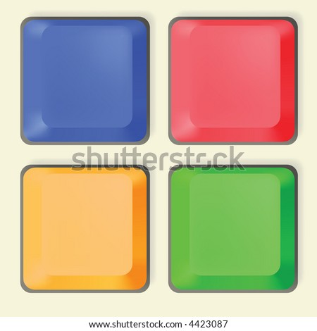 * Computer Key Icon Design Set