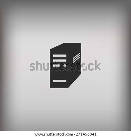 computer server icon - stock photo