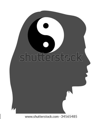 concept of a zen idea, equanimity mind (jpg) - stock photo
