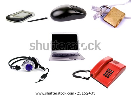 concept of business technology isolated - stock photo