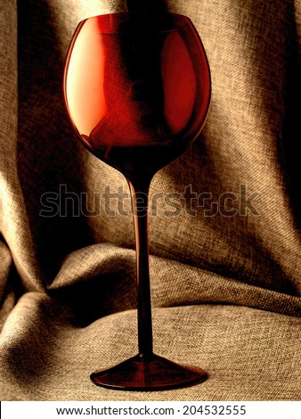 Conceptual abstract wine glassware background design.    soft focus - stock photo