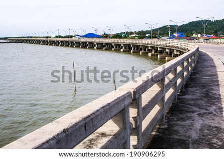 Concrete bridge in Thailand - stock photo
