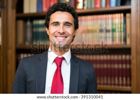 Confident lawyer portrait - stock photo