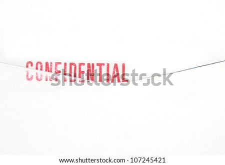Confidential  stamp on Envelope - stock photo