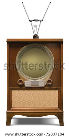 1952 console television set - stock photo