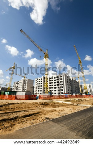 construction of a new multi storey residential house