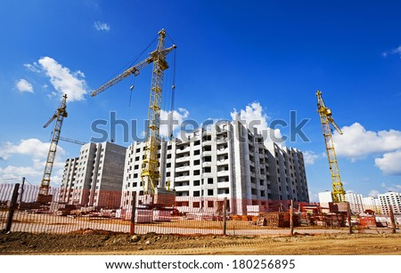 construction of the new building   - stock photo