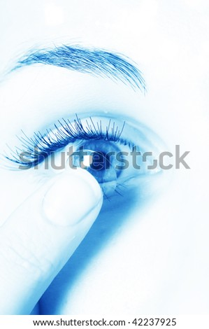 Contact lenses for eyes - stock photo