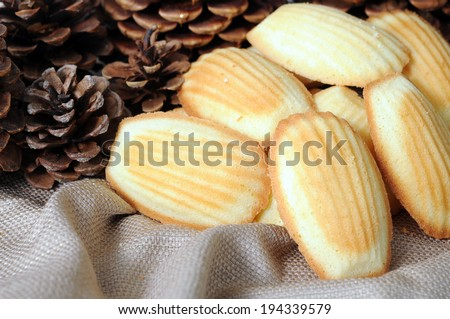 cookies and pine cones for Christmas decoration