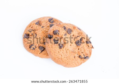 cookies on white background.