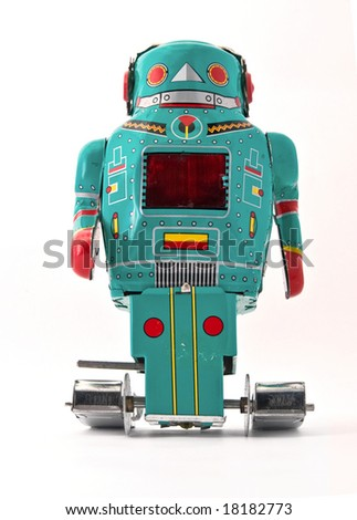 cool robot toy - stock photo