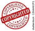 copyrighted stamp - stock photo