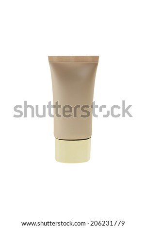 cosmetic tubes with makeup foundation cream - stock photo