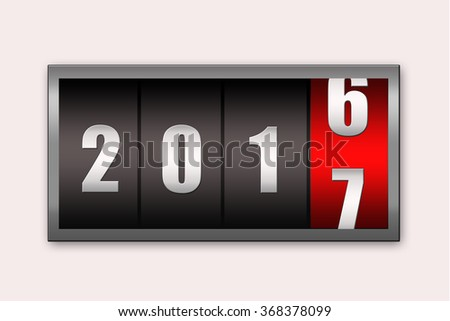2017 countdown timer  isolated on white background. - stock photo