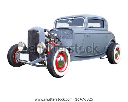 2007 Coupe Replica isolated with clipping path