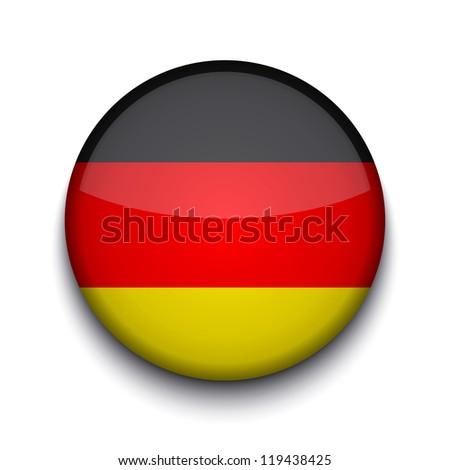 creative circle flag on white background. - stock photo