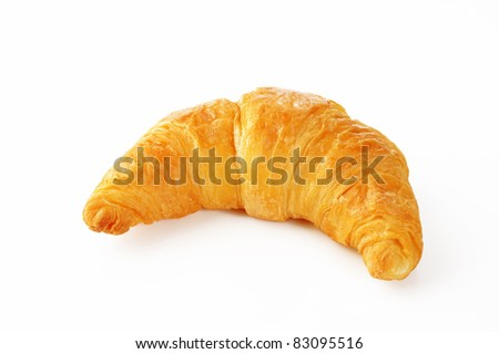 croissant on white background - stock photo