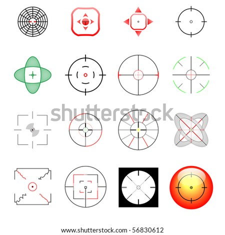 crosshair collection for a wide range of use - stock photo