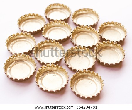 Crown cork bottle cap for beer and carbonated drinks vintage - stock photo