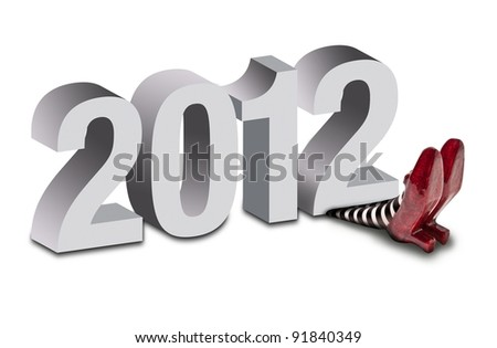 2012 crushing the wicket witch - stock photo