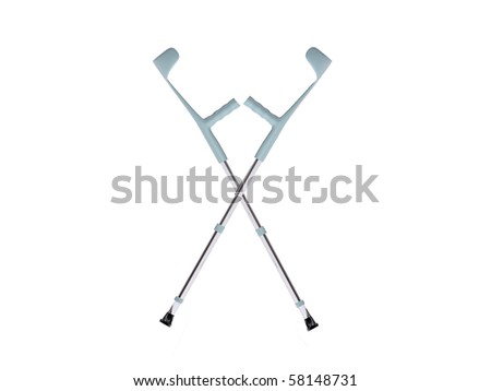 crutches isolated on white background