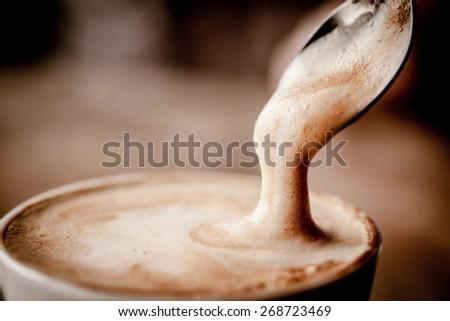Cup of Cappuccino Coffee  - stock photo