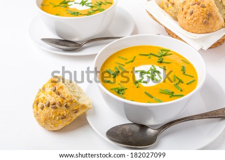 Curried Carrot &  Bean Cream Soup